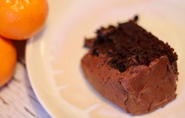 Dark chocolate and orange cake (Vegan)