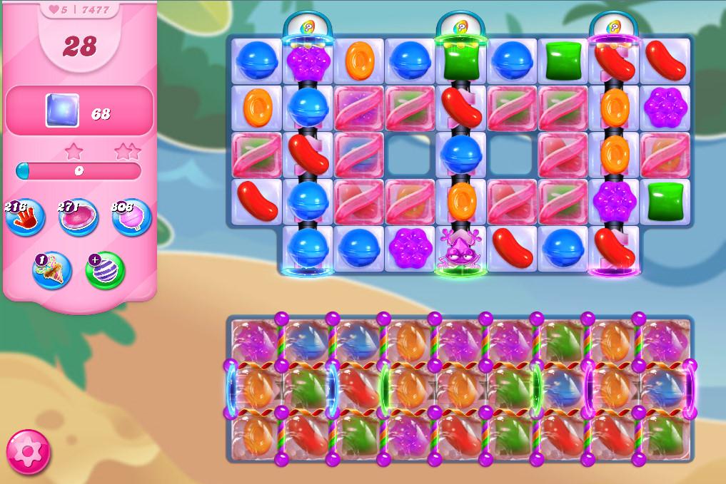 Candy Crush Saga level 7477