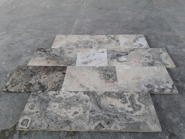 Light Silver Travertine Tiles