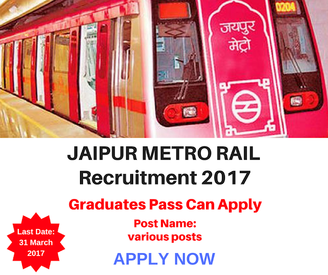 Jaipur Metro Rail Recruitment 2017