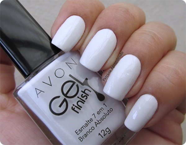 Esmaltes Avon Gel Finish 7 em 1 Branco Absoluto