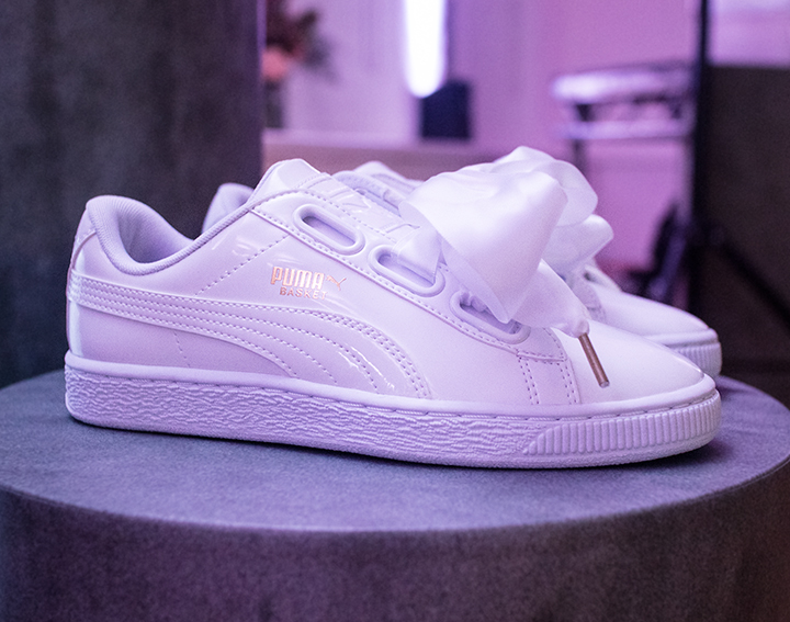 outlet store 3ddbc b480d Fresh Lengths: Style | Puma Basket Heart Launch