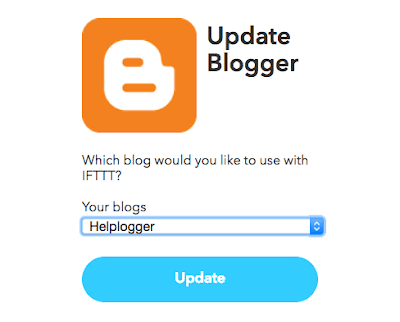 add Blogger blog to IFTTT for automatic posting