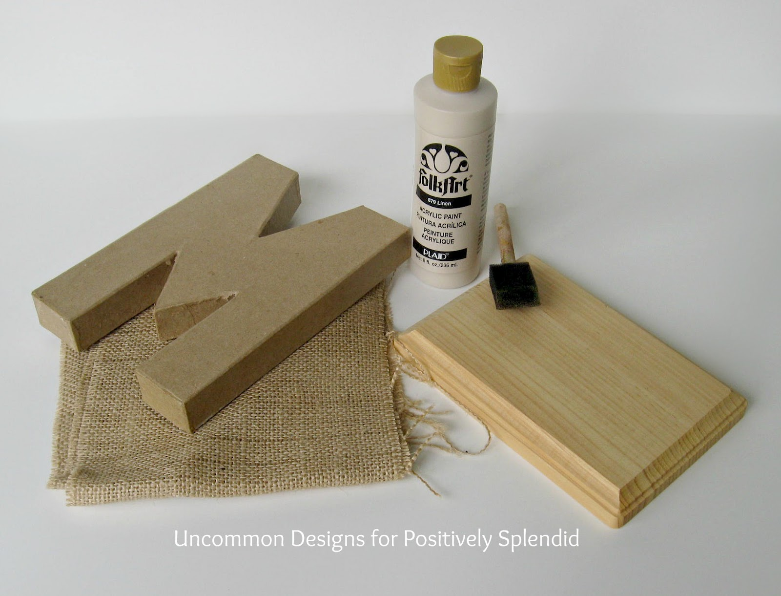 Burlap Covered Letters Positively Splendid Crafts Sewing