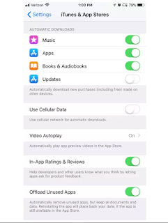 iphone iOS 11 automatic update settings