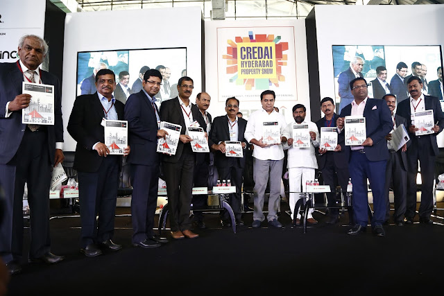 Launch of JLL Report by KTR Rao & CREDAI Office Bearers 1