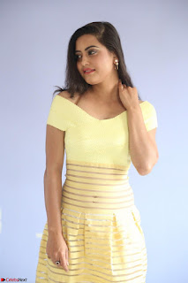Shipra gaur in V Neck short Yellow Dress ~  066.JPG