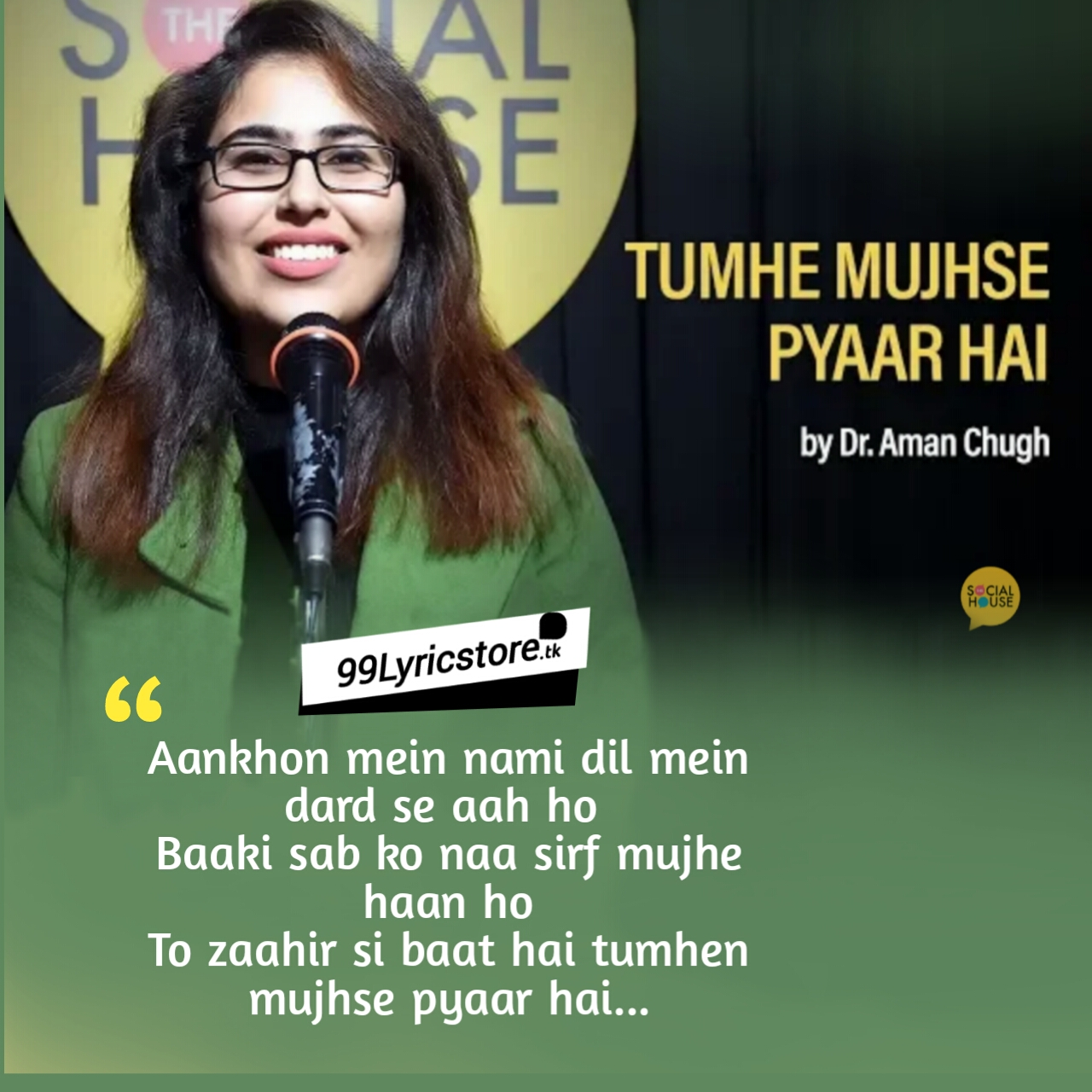 Tumhe Mujhse Pyaar Hai by Dr. Aman Chugh | Love Poem | The Social House Poetry, The social house poetry in Hindi, love poetry, love poem, Kavita, Dr. Aman Chugh Poetry, Dr. Aman Chugh poem, Two lines poem, love Shayari, Aur khwaabon mein har roz mujhse mulaakaat ho  To zaahir si baat hai tumhen mujhse pyaar hai...