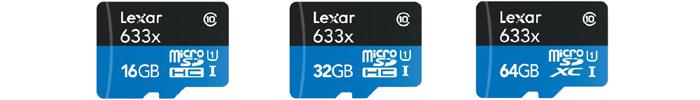 レキサー Lexar microSDHC/microSDXCカード「High-Performance 633x」