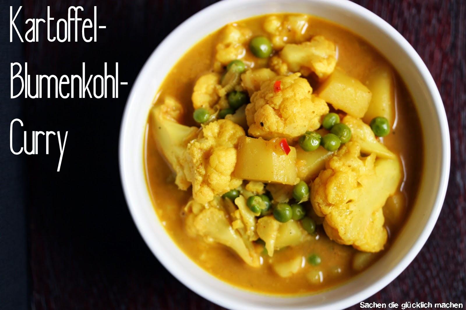 Sachen Die Glucklich Machen Kartoffel Blumenkohl Curry Vegan