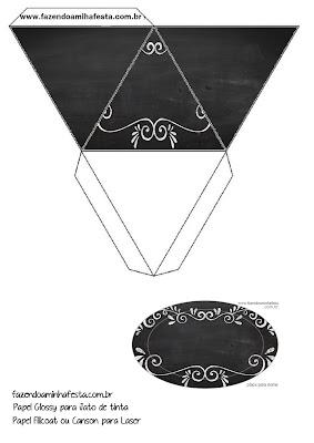 Caja con forma de pirámide de Estilo Pizarra