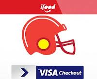 Promoção Visa Checkout e iFood no Super Bowl LI visa.com.br/iFood