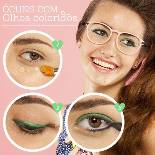 Lembre-se de que com óculos de grau a região da olheiras ganha destaque.  Sem drama! Nada que um bom corretivo não resolva. Se for aplicar com o  dedo, ... cfecc206e5