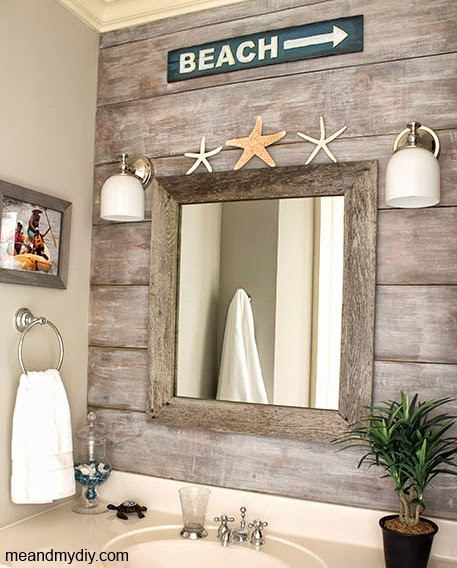 Install an accent wall wood paneling ideas for coastal for Bathroom rehab ideas