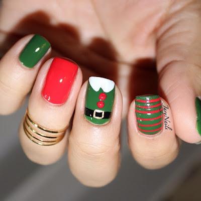 uñas para navidad