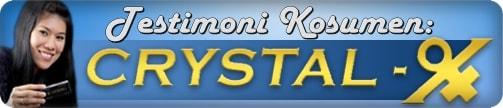 testimoni crystal x asli