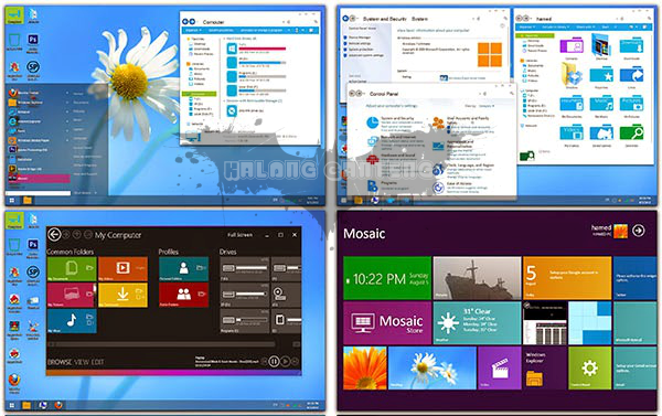 Screenshot metro skin pack windows 7