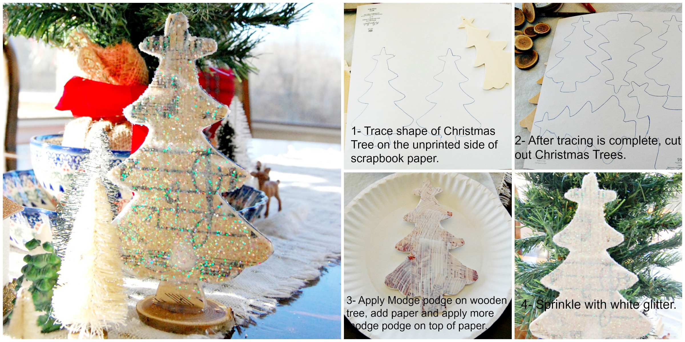 modpodge, crafts, Christmas, Trees, athomwithjemma