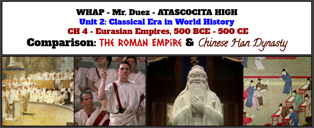 comparison of roman empire to han
