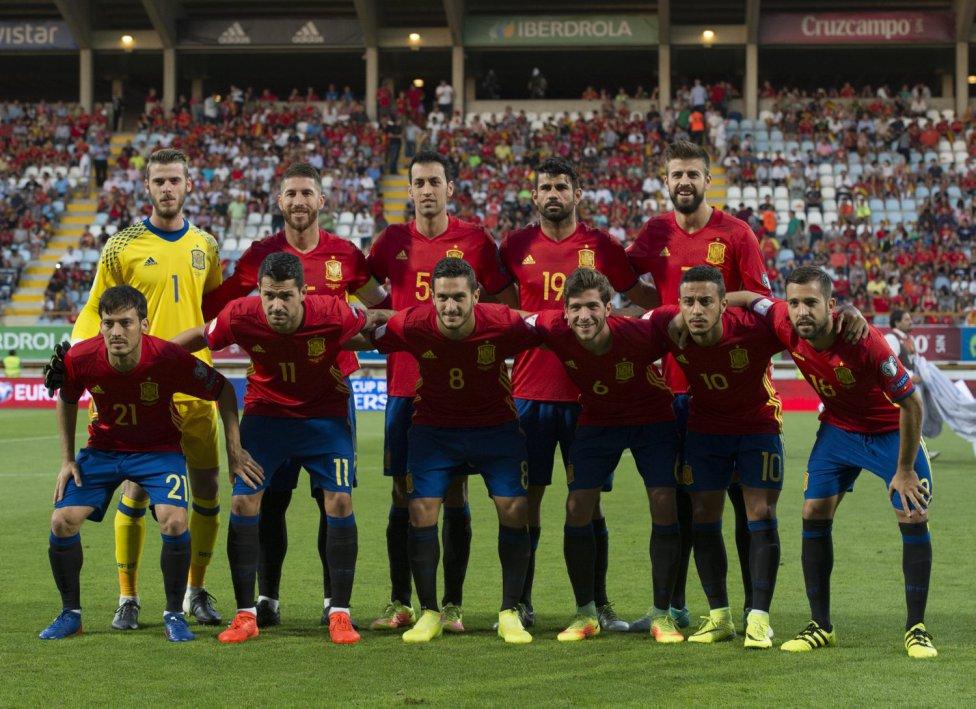 Spain before the Liechtenstein qualifier; photo: spanishfootballsports
