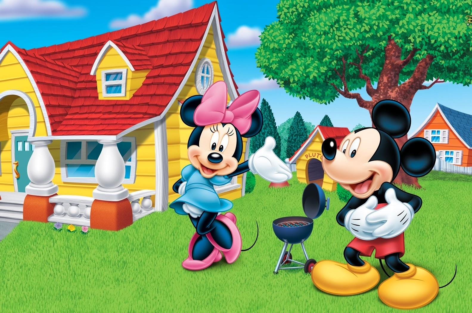 Cartoon Images Fall Wallpaper Disney Cartoon Mickey Mouse Amp Minnie Mouse 4u Hd Wallpaper