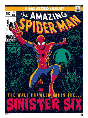 Spider-Man and the Sinister Six Screen Print by Ian Glaubinger x Grey Matter Art x Marvel