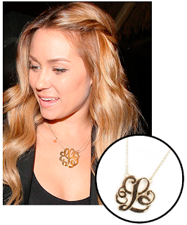 Lauren Conrad Wearing Monogrammed Necklace