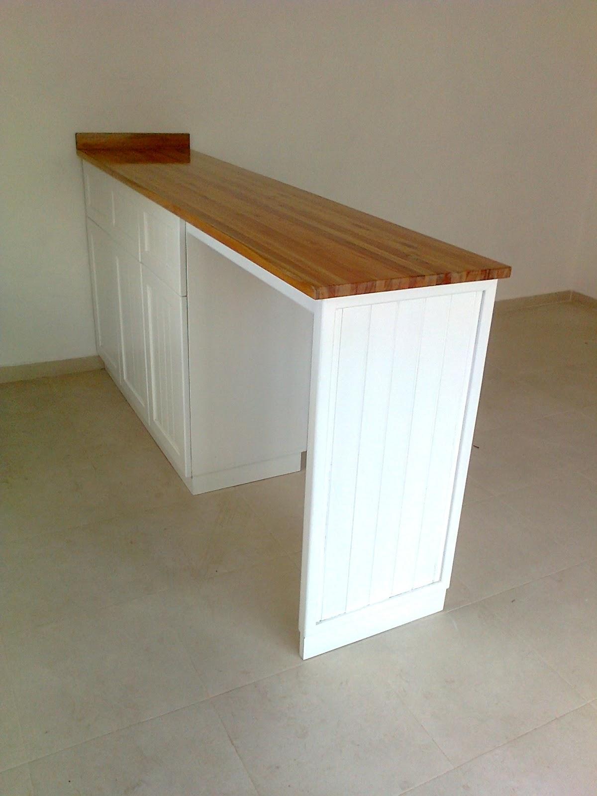 benjamin mueble de cocina laqueado blanco con barra