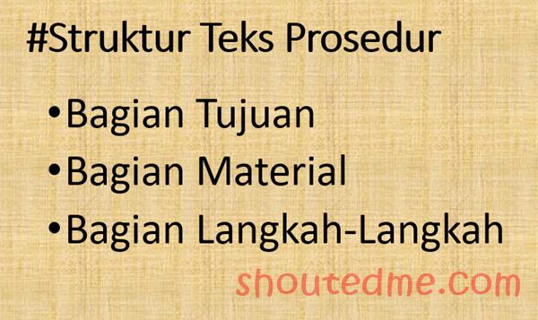 contoh teks prosedur struktur