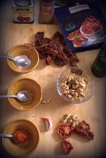 Ingredientes para hacer sobrasada vegana
