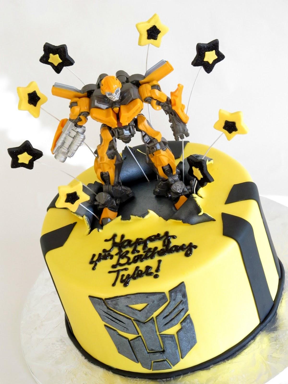 Transformer Bumblebee Cake Decorations