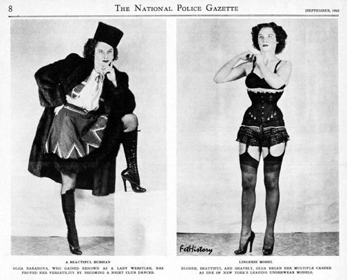 National Police Gazette, Charles Guyette, Edythe Farrell, fetish model