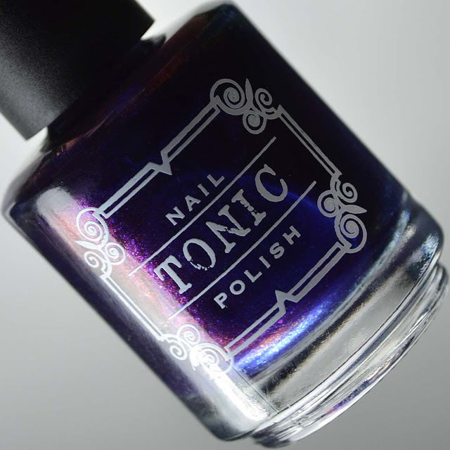 blue nail polish bottle