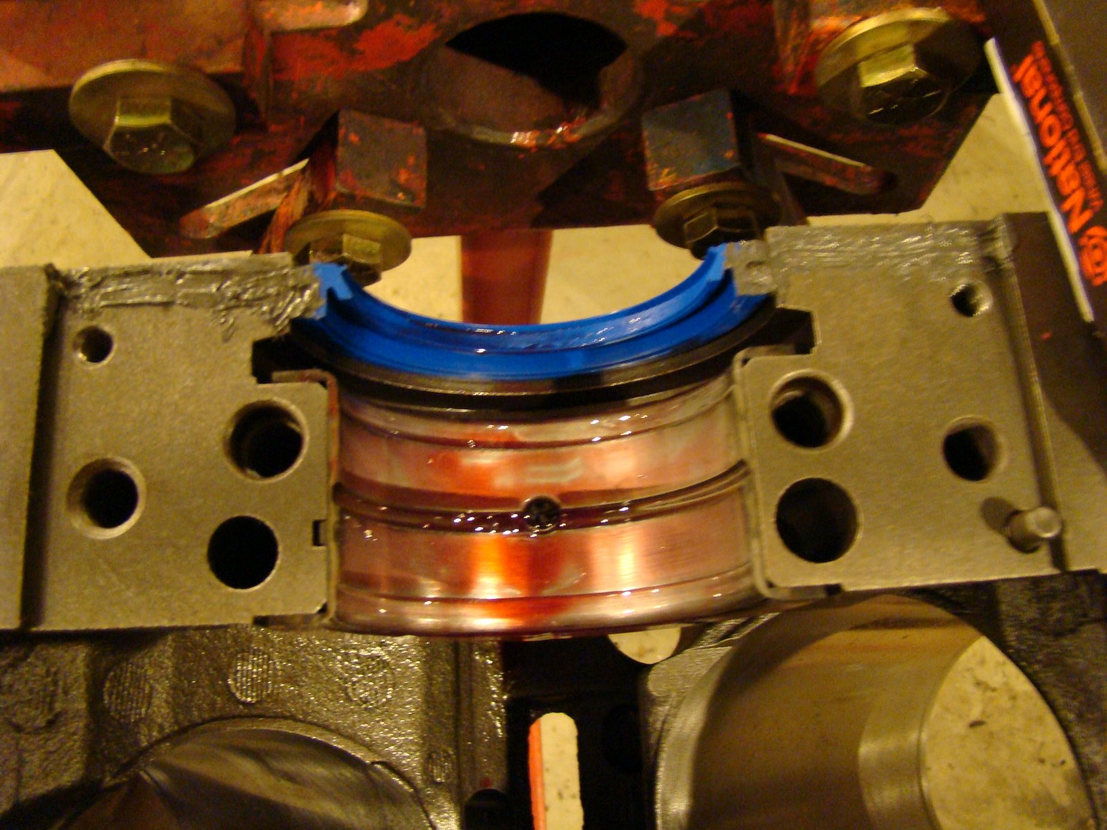 Engine Break In Oil >> TrucksnCars: 454 rear main seal and bearing shells