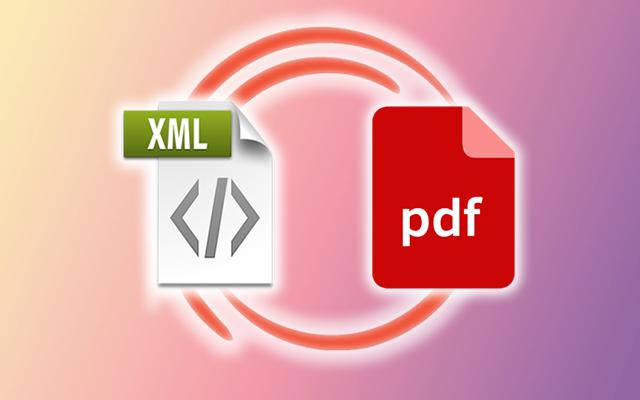 xml a pdf online