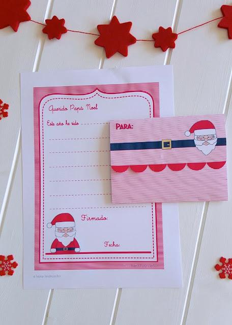 cartas navidad imprimible gratis
