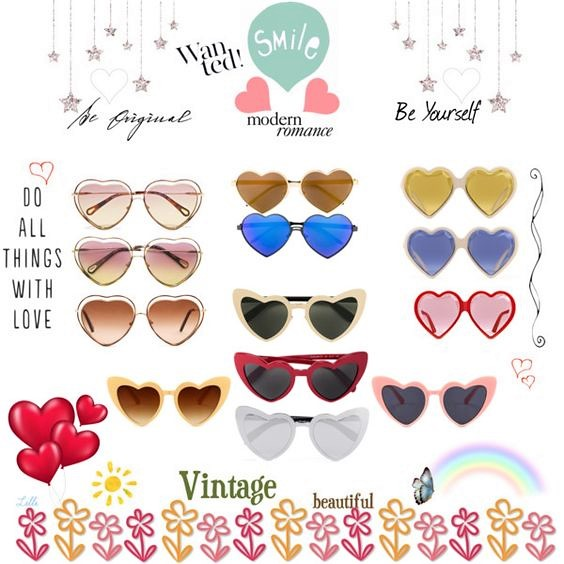 Heart Shaped Sunglasses | Candy and Style