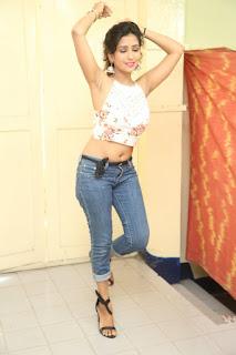 Deekshita Parvathi in a short crop top and Denim Jeans Spicy Pics Beautiful Actress Deekshita Parvathi January 2017 CelebxNext (230).JPG