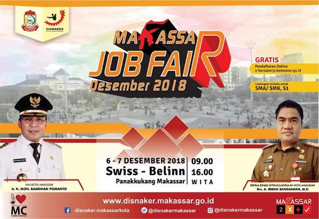 Makassar Job Fair di Hotel Swiss Belinn Desember 2018