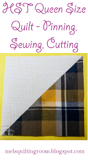 HST pinning, sewing, cutting directions
