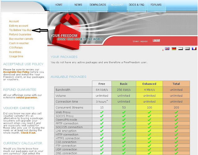 أنظمة النت المجاني علي اليورفريدوم اورنج فودافون اتصلات