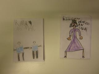 utställning av egna böcker som förskoleklassens elever gjort själva