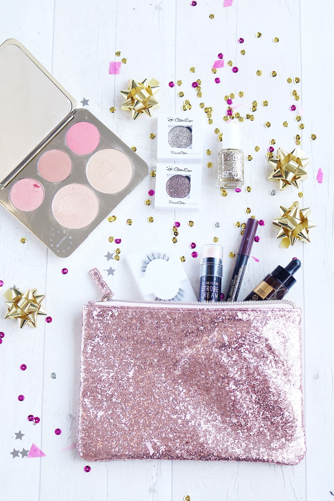 Beauty, Christmas, Blogmas, Make up, Make Up Bag Favourites, Glitter, Drugstore,