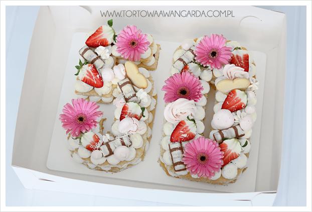 Modne torty number cake cukiernia Warszawa