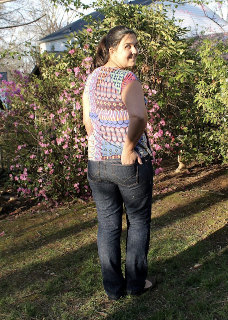 Starting off my spring handmade capsule wardrobe with new jeans sewn from the Ginger Jeans sewing pattern.