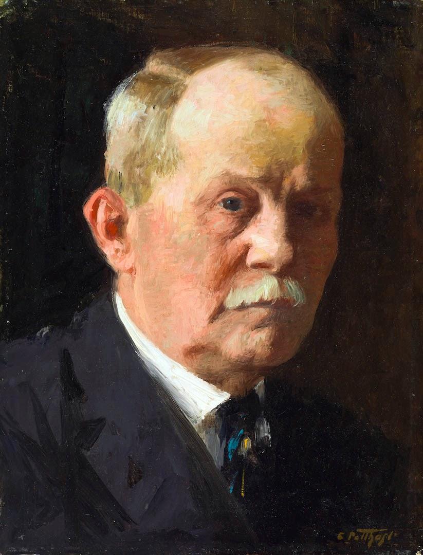 Edward Henry Potthast, Self Portrait, Portraits of Painters, Fine arts, Painter Edward Henry