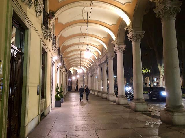 Calles con soportales en Turín