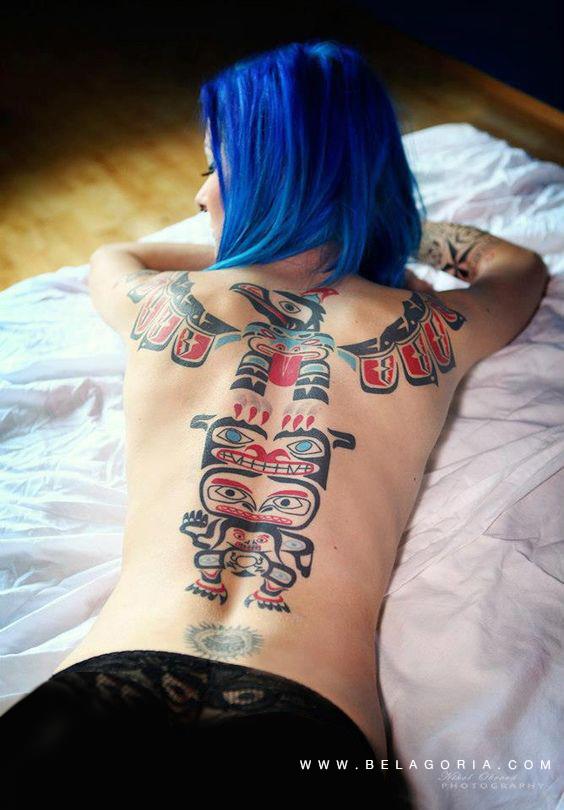 Fotos de tatuaje Haida