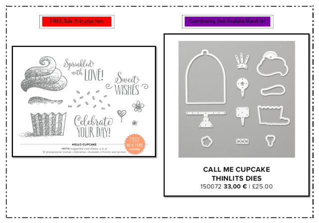 Nigezza Creates Stampin' Up! Hello Cupcake and Call me cupcake thinlits
