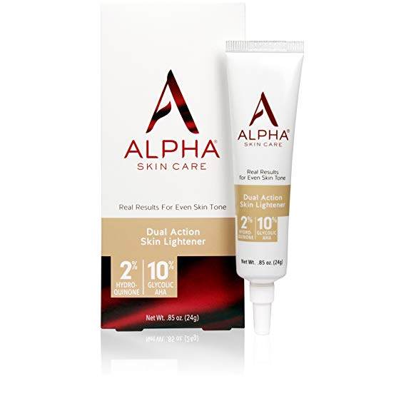 Alpha Skin Care - Dual Action Skin Lightener, 2% Hydroquinone, 10% Gycolic AHA